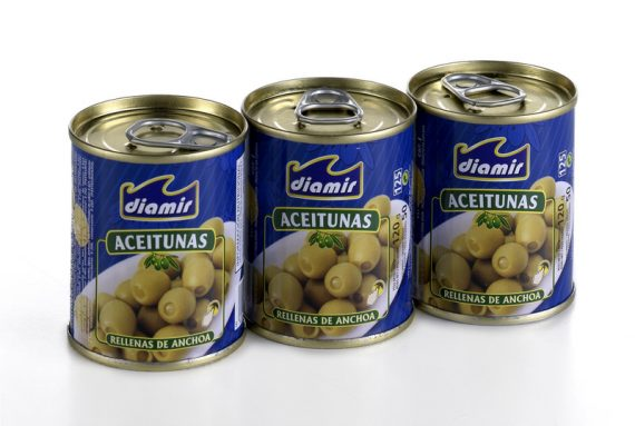 Olives with anchovies paste
